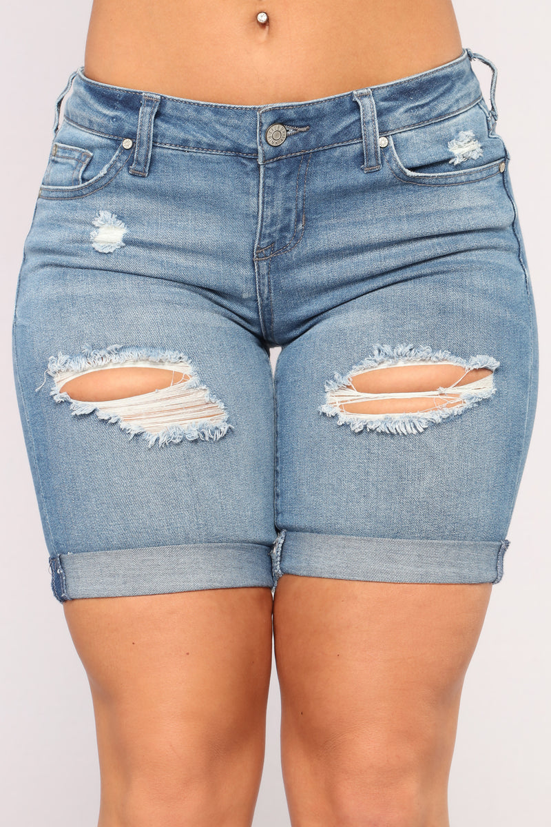 Delaine Denim Bermudas - Dark Denim
