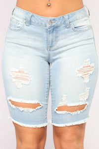 Fauna Denim Bermudas - Light Blue Wash