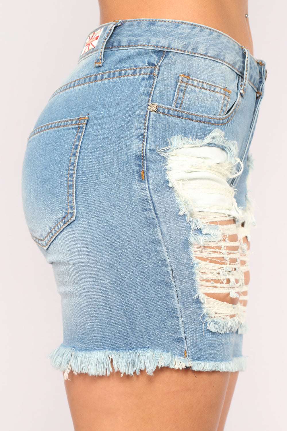 Paradise Lovers Bermudas - Medium Blue Wash