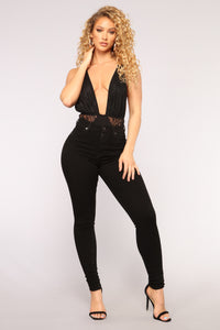 Dare To Bare Bodysuit - Black