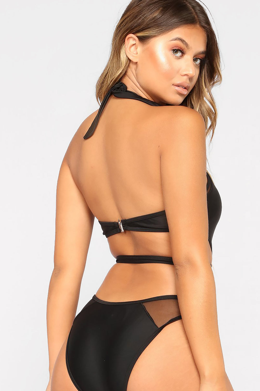 Meshing with You Monokini - Black