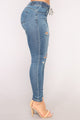 Khaliah Jogger Jeans - Medium Blue Wash