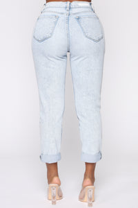 I Got It From My Mama Jeans - Light Blue Wash Angle 7