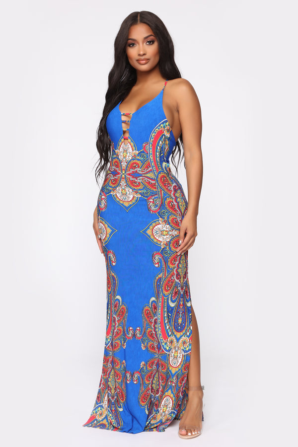 5ec7647cf73 Wine Glass Bay Maxi Dress - Blue Multi