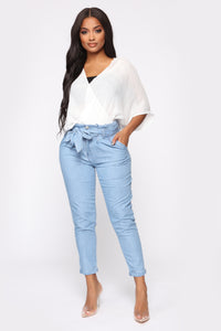 Milan High Rise Jeans - Light Blue Wash Angle 2