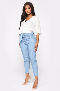 Milan High Rise Jeans - Light Blue Wash Angle 3
