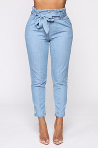 Milan High Rise Jeans - Light Blue Wash Angle 1