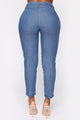 Milan High Rise Jeans - Medium Blue Wash