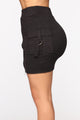 Mabel Cargo Skirt Set - Black