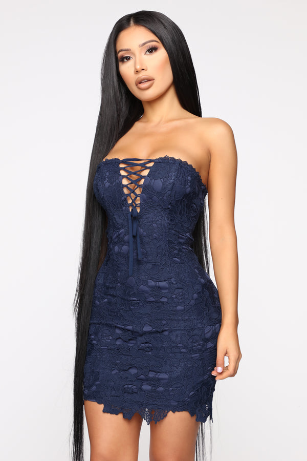 dbe556a7629 If It s Lovin  That You Want Crochet Dress - Navy