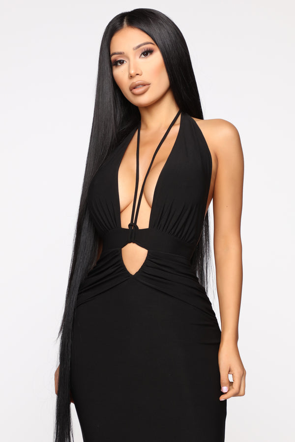 50c40ed8cfea2 Call The Limo Halter Maxi Dress - Black. Notify Me When Available