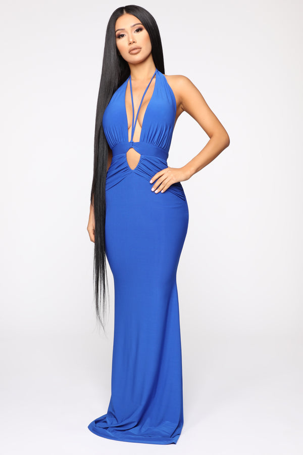 0ab10f35753f Call The Limo Halter Maxi Dress - Royal