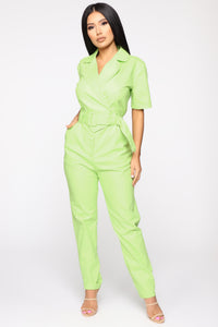 More Than Enough Jumpsuit - Lime