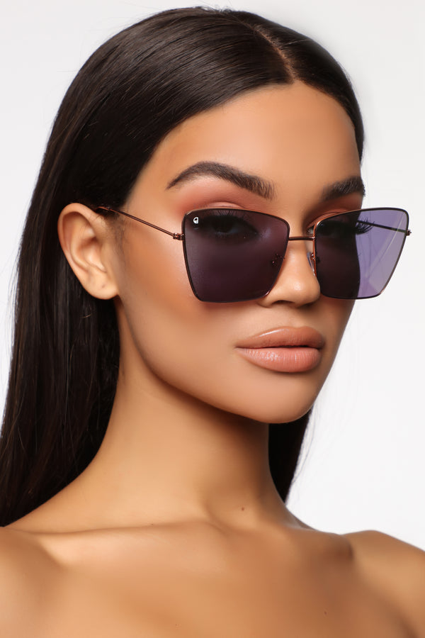 12da6036993a Trying To Be Me Sunglasses - Gold