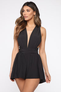 Pebble Beach Romper - Black