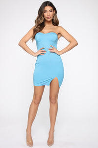 Anaith Tube Mini Dress - Light Blue