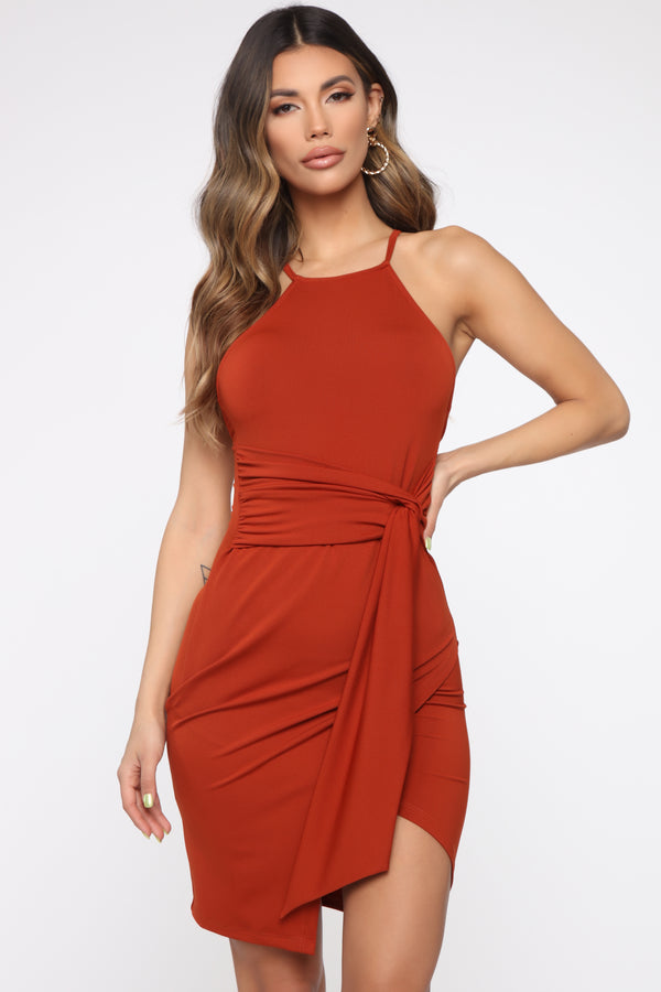 3a3fec7bef3 Get It Together Midi Dress - Brick Red