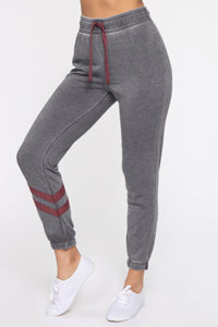 Staying In Tonight Joggers - Charcoal