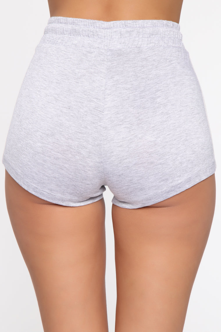 Aiko Striped Shorts - Heather Grey