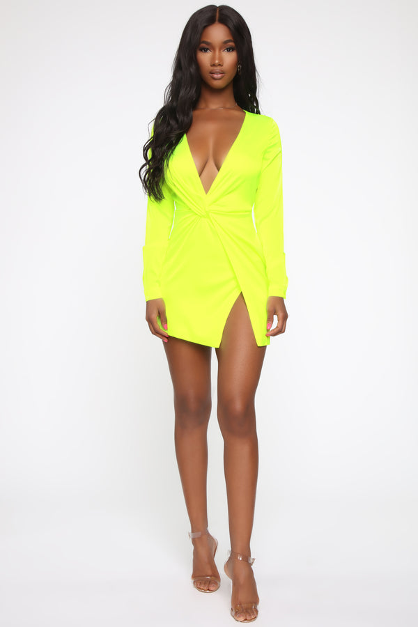 b2ce3a05eac53 Sugar Free Dress - Neon Yellow