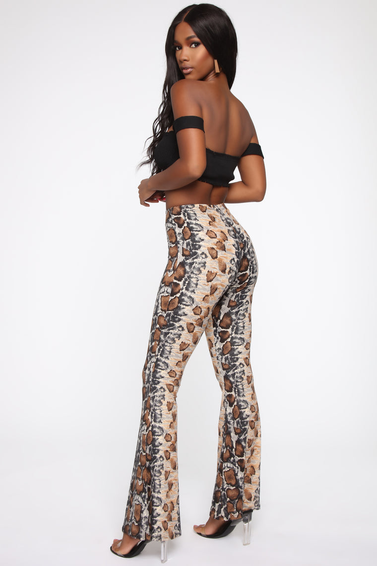 Reload Bell Bottom Pants - Brown