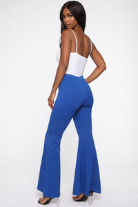Groove Along Flare Pants - Blue