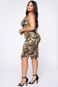 Ride With A Real One Maxi Dress - Camouflage