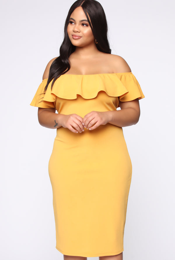 6b8b130fc56 plus-size. plus-size. QUICK VIEW. NEW. Love Your Vibe Midi Dress - Mustard