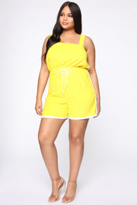 Missing Me Baby Romper - Yellow Angle 2
