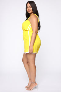 Missing Me Baby Romper - Yellow Angle 3