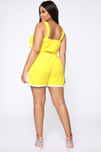 Missing Me Baby Romper - Yellow Angle 4