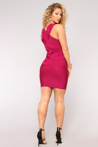 Hollywood And Highland Bandage Dress - Magenta