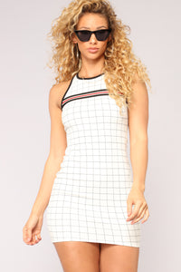 Checkmate Athletic Dress - Ivory