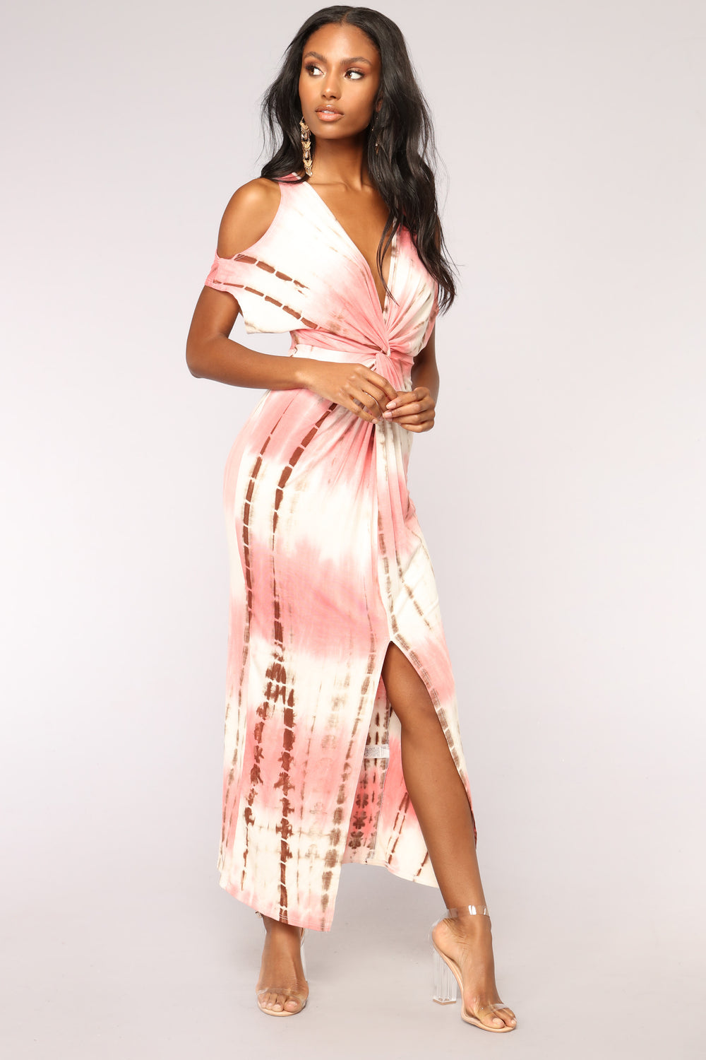 Love Never Dyes Dress - Coral