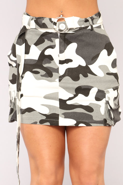 Survivor Camo Skirt - Grey