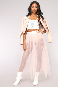 Cute Like Carrie Maxi Skirt - Pink
