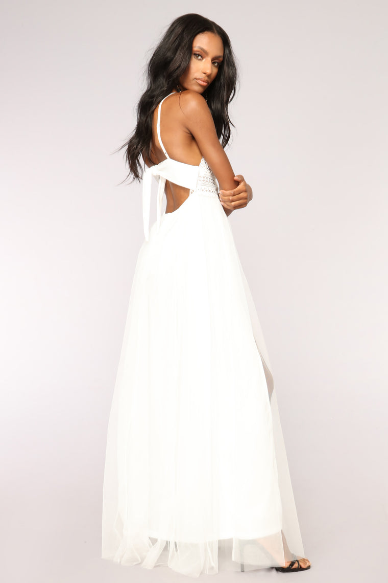 Best To You Mesh Dress - White