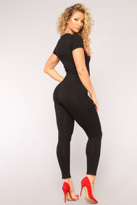 F'N Super Babe Jumpsuit - Black