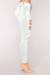 All In Your Head Skinny Jeans - Light Blue Wash