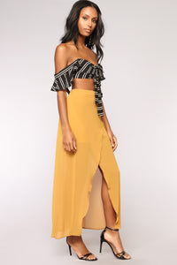 Wrap This Up Skirt - Mustard