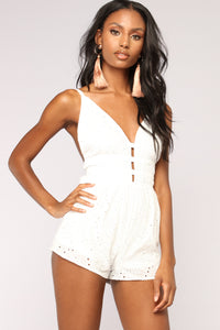 Mineral Spring Romper - Off White