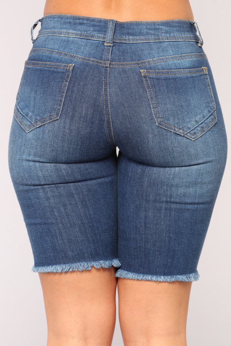 Making Waves Denim Bermudas - Medium Blue Wash