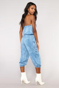 Feet In The Sand Tube Jumpsuit - Blue