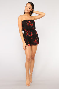 Flower District Romper - Black