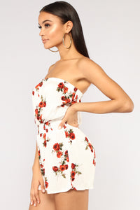 Flower District Romper - Off White