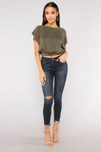 Slow Roll Top - Olive