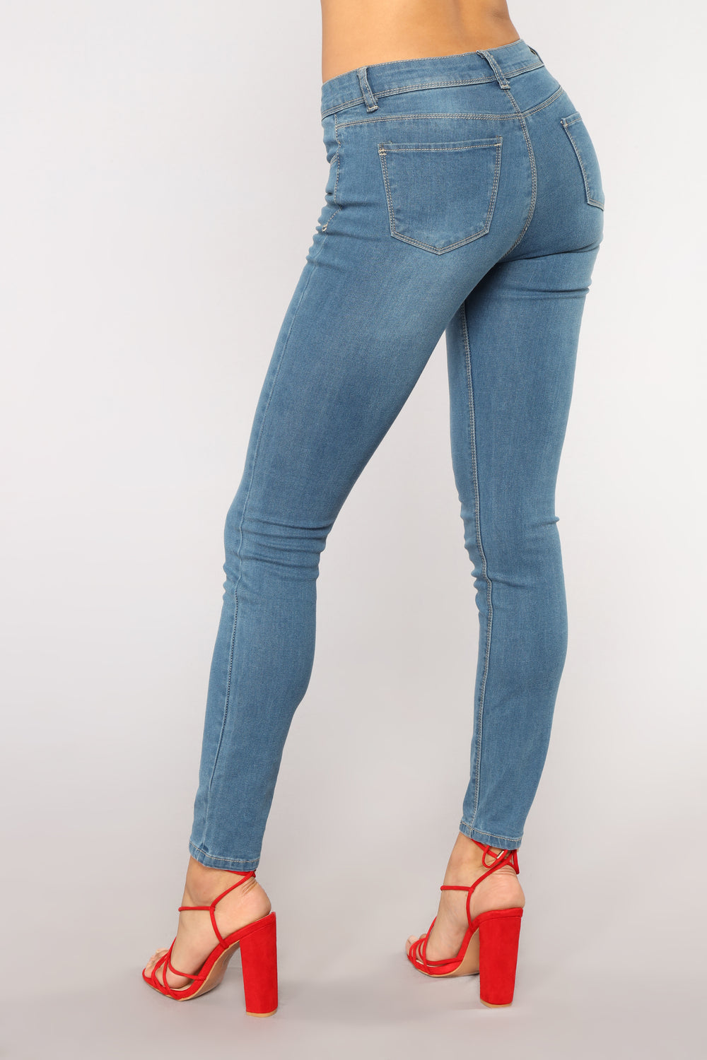 Too Close Skinny Jeans - Medium Blue Wash