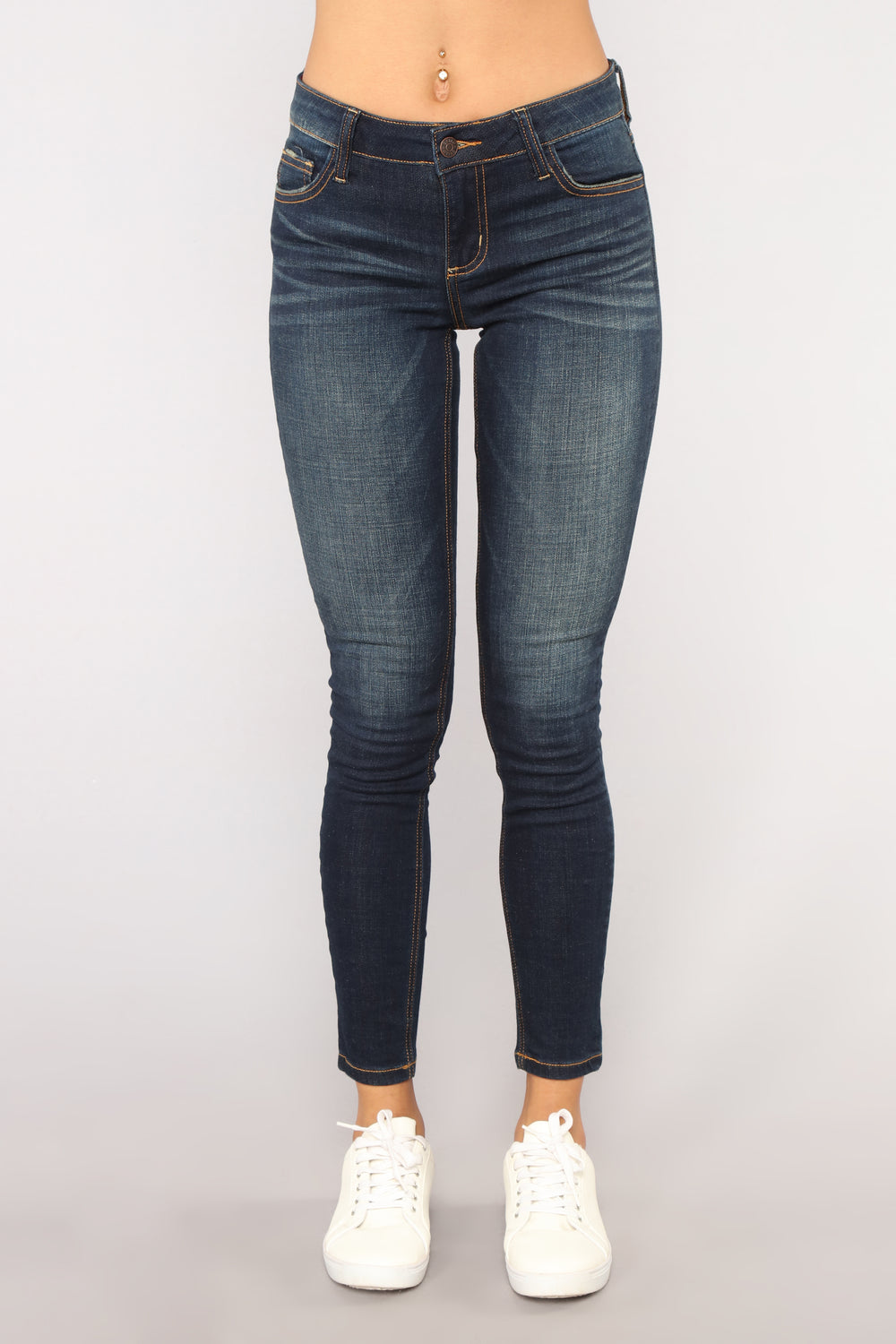 Fall For You Skinny Jeans - Dark Denim