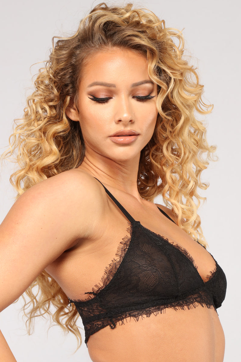 Smothered In Love Bralette - Black