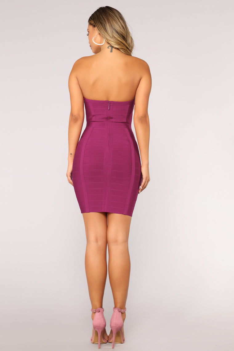 This Ain't A Scene Bandage Dress - Magenta